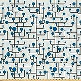 ABAKUHAUS Geometrisch Stoff als Meterware, Abstrakte Linien