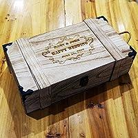 alivecraft personalizzato bottiglia doppio in legno vino scatola personalizzata legno rustico matrimonio Groomsman damigella d' onore regalo di