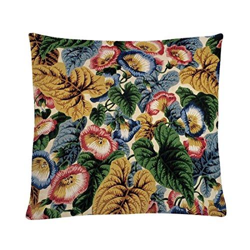 MAYUAN520 Coussins Fashion Flower Pattern De Coussin 45*45Cm Taie Décorative Accueil Chaise De Bureau Canapé Coussins Couvre Siège Auto