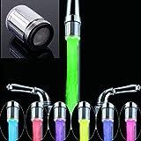 2 STKS LED Water Kraan, 7 Kleuren Veranderende Glow Water Kraan Licht Water Stream Kleur Veranderende Kraan Tap wastafel Kraa