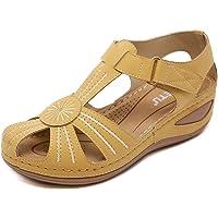 tqgold® Sandales Femmes Plates Casuel Confort Chaussures de Conduite Mode Été Marche Randonnée Outdoor Sandales