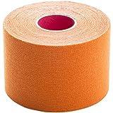 BodyTape | Kinesiologie Tape aus 97% Baumwolle | Atmungsaktiv latexfrei elastisch | hautfreundliche Bandage für Physiotherapie, Sport & Freizeit | 1 Rolle (5cm x 5m) | Orange