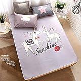 Klimatisierte Matte Ice Silk Mat 1.5m 3-teiliges Bett-Matte Für Den Sommer Coole Matratze Student-Schlafsaal 1.2m Cartoon Smooth Mat (Farbe : Style 4, größe : 1.5m (5 ft) bed)