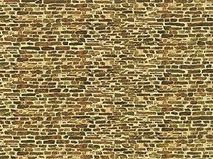 Auhagen 50.116,0 - Muro de Piedra caliza Papel Decorativo pequeña, 220 x 100 mm, Colorido