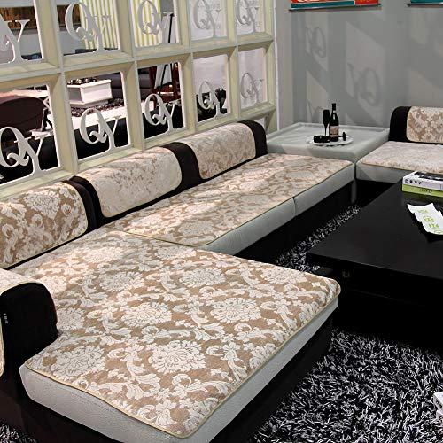TopJiä Felpa Gamuza Vintage Cubre Sofá para Sofá De Cuero, 1 2 3 4 Plazas 1 Pieza Sectional Funda De Sofá Antideslizante Funda Cubre Sofá para Sofá Rinconera-Amarillo Claro 90x240cm