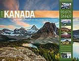 Kanada 2019, Wandkalender im Querformat (54x42 cm) - Reisekalender mit Monatskalendarium (Reisen mit allen Sinnen) - Ackermann Kunstverlag