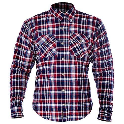 Oxford Kickback Hemd kariert Hemd - rot/blau, XL -