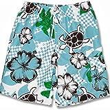 Snapper Rock Jungen UPF 50+ UV Schutz Schwimmen Shorts Surf Shorts für Kinder & Jugendliche Weiß/Blau 1-2 Jahre, 86-92cm