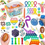 45 Pcs Fidget Toys Set Cheap Box,Sensory Relief Toys Set for Kids Stress And Anxiety Relief Fidget Toys,Cheap