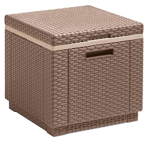 Allibert Beistelltisch/Kühlbox Ice Cube 40 Liter, cappuccino
