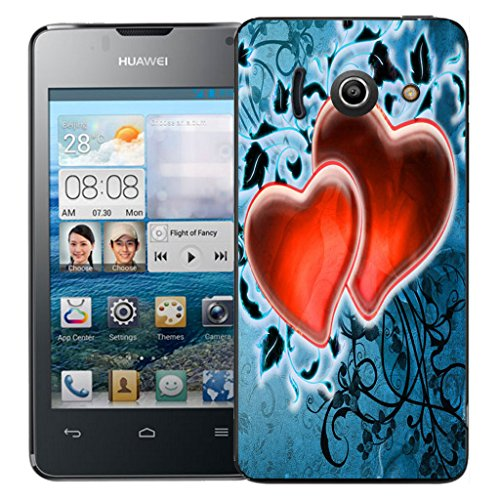 mobile-case-mate-huawei-ascend-y300-clip-on-hard-case-cover-bumper-red-fondness-pattern