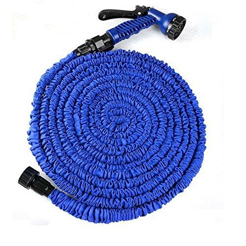 Magic Tubo flessibile espandibile Giardino di casa acqua Car Wash Water Gun retrattile telescopico irrigazione tubo di gomma con accessori (lavatrice connettore)