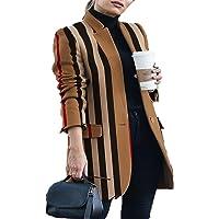 Chenlao7gou621 Cappotto di Lana con Colletto alla Coreana Stampato da Donna Autunno/Inverno