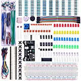 Elegoo Upgraded Electronics Fun Kit w/ Power Supply Module, Jumper Wire, Precision Potentiometer, 830 tie-points Breadboard for Arduino, Raspberry Pi, STM32 immagine