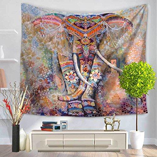 andala-Bunte Elefant Bedruckte Tapisserie-Wand-hängende Strand-Wurfmatte Hippie-Bettdecke-Yoga-Matten-Decke, 150cmx130cm, O31 ()