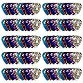 Tiger 100x Assorted Guitar Plectrums/Picks Box