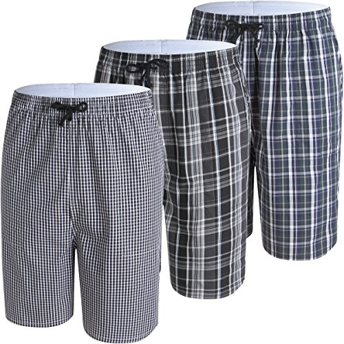 Jinshi pantaloncini da casa pigiama per uomo in cotone taglia m