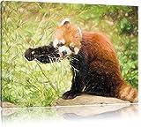 Carino Panda rosso Bunstift effetto, formato: 120x80 su tela, XXL enormi immagini completamente Pagina con la barella, stampa d'arte sul murale con telaio, più economico di pittura o un dipinto a olio, non un manifesto o un banner,