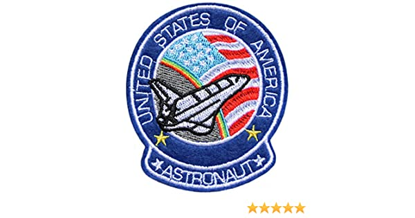 topt mili ecusson nasa navette spatiale astronaute usa enterprise discovery fus/ée etoile space exlorateur planete espace 13x11cm