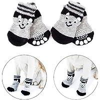 Vibury Anti Rutsch Socken, Hundesocken für Hunde und Katzen Innenbereich, Pfoten-Schutz und Traktion Dank Silikon-Gel