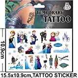Inception Pro Infinite (Model 5) - Tattoo - Sticker - Gefälscht - Temporär - Charaktere - Cartoons - Sticker - Blatt - Anna - ELSA - Frozen