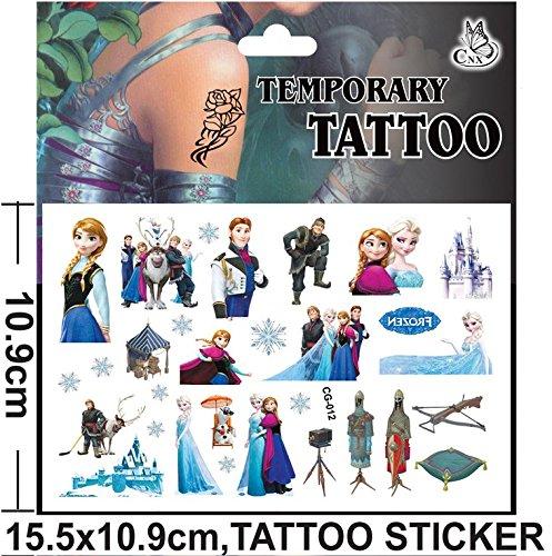 Inception pro infinite ( modello 5 ) - tattoo - adesivi - finti - temporanei - personaggi - cartoni animati - frozen - adesivi - foglio - anna - elsa