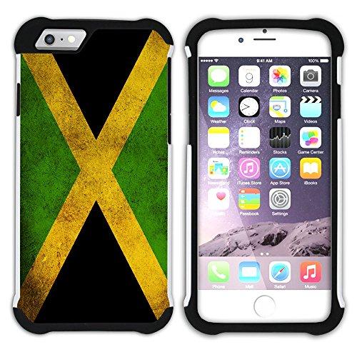 Graphic4You Vintage Uralt Flagge Von Bahamas Design Hart + Weiche Kratzfeste Hülle Case Schale Tasche Schutzhülle für Apple iPhone 6 / 6S Jamaika Jamaikaner