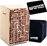 Cajon + KEEPDRUM Caisson de percussion Gig Bag + CP-01 Pad CP130 + Bag + Pad