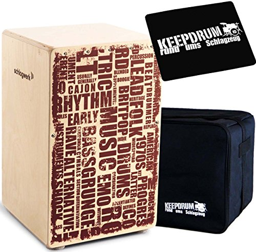 Schlagwerk Cajon + keepdrum Gig Bag + CP-01 Pad (CP130 + Bag + Pad)