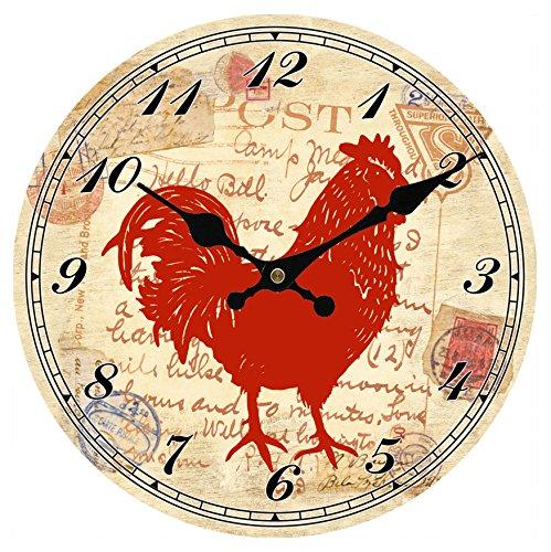 hylaea-home-decor-pendule-murale-en-bois-circulaire-red-rooster-print-40cm