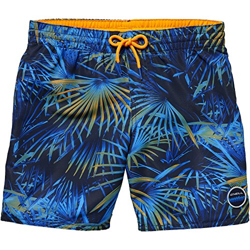 O'Neill Jungen Thirst to surf Boardshorts Bademode Badeshorts, Blue AOP W/Red, 140