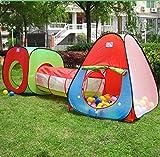 Casas Jardin niños,VicPow Interiores Casas Túnel para niños,Casas para niños,Casas de Niños interiores y tiendas de campaña Jardín(bolas no está incluido)