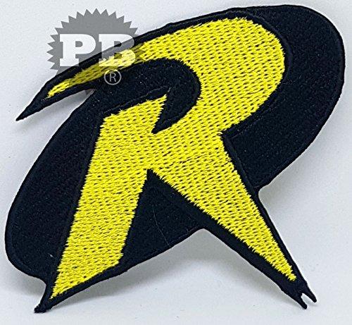 # 256 Batman & Robin Logo Crest Badge Eisen/Nähen auf bestickt Fancy Kleid Patch