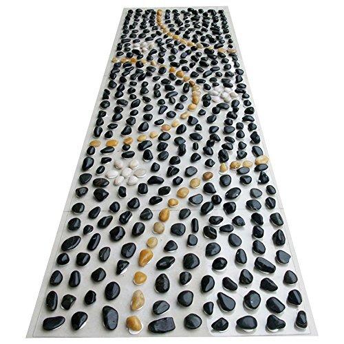 eliteshine Rock Massage PVC-Matte Fussreflexzonen Massage Yoga Matte Badezimmer Küche Teppich