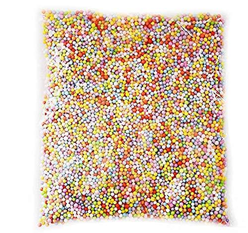 JER Farbige Schaumstoffbälle für Slime 0,09 0,14 Zoll, Kleine Schaumstoffkugeln, gefüllt mit Perlen für Brautpaar, Hochzeitsdekoration, Party, 1 Packung