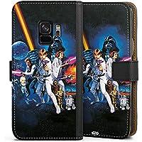 Samsung Galaxy S9 Tasche Leder Flip Case Hülle Star Wars Merchandise Fanartikel Episode Iv