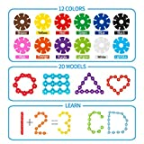 SONi Building Block 500 PCS Educational Toys Set Plastic Building Disc Snow Flake Staking Toys for Kids Boy and Girls-12 Colors with Storage Bag