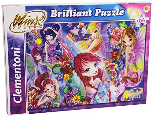 Clementoni 20129 - Puzzle Brilliant Winx, 104 Pezzi