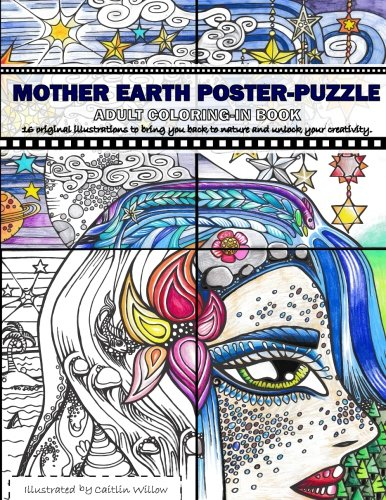 mother-earth-poster-puzzle-adult-coloring-in-book-16-illustrations-to-bring-you-back-to-nature-and-u