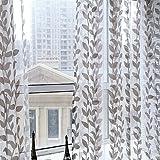 Cortina de hojas Etosell para puertas o ventanas, Tul, café, 1M/39.4' Width x 2M/78.8' Length