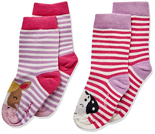 joules Baby-Mädchen Neat feet Socken, Mehrfarbig (Horse), 6-12 Monate -