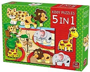 King Kiddy 5in1 Zoo - Rompecabezas (Jigsaw Puzzle, Fauna, Niños, Kiddy, 3 año(s), Niño/niña)