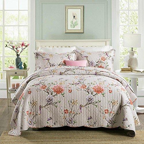 WYFC Confortable 2pcs Shams 1pc courtepointe plaine 100% coton matelassé Floral Multi couleur . b . 230*250cm