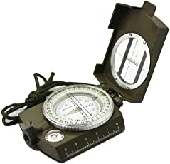totam Professional Multifunction Military Army Metal Sighting Compass High Accuracy Waterproof Compass Green Color