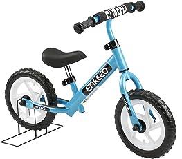 ENKEEO Laufrad 12 Zoll Balance Bike Lernlaufrad Roller Kinder Fahrrad Lauflernrad Metalrahmen