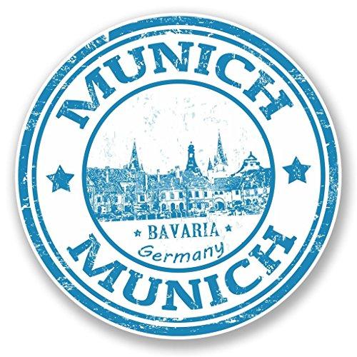 Preisvergleich Produktbild 2 x 10cm/100mm München Deutschland Bayern Vinyl SELBSTKLEBENDE STICKER Aufkleber Laptop reisen Gepäckwagen iPad Zeichen Spaß #4584