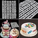 Artistic9(TM) 6-teiliges Set Buchstaben & Zahlen Kuchen Stanzform Schablone Dekoration Schneidformen