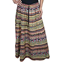 Ladies Skirt Beatrice Casual Printed Hippie Gypsy Boho Maxi Skirts SM
