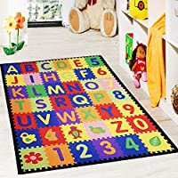 FB FunkyBuys® Kids Children Educational Fun Multi Coloured Alphabet Rugs Floor Nursery Play Mat Home Carpet (100x165)