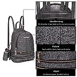 Miss Lulu Ladies Fashion PU Leather Backpack Rucksack Shoulder Bag (1763 Black)